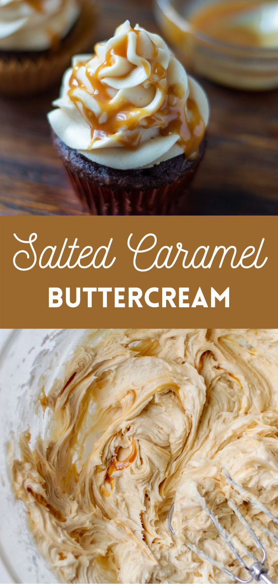 salted caramel buttercream pin for Pinterest